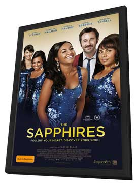 The Sapphires - 11 x 17 Movie Poster - Australian Style A - in Deluxe Wood Frame