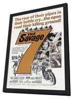 The Savage Seven - 11 x 17 Movie Poster - Style A - in Deluxe Wood Frame