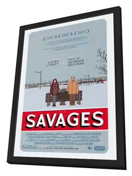 The Savages - 27 x 40 Movie Poster - Style A - in Deluxe Wood Frame