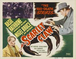 The Scarlet Claw - 11 x 14 Movie Poster - Style A