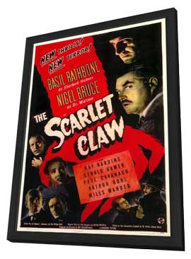 The Scarlet Claw - 11 x 17 Movie Poster - Style A - in Deluxe Wood Frame