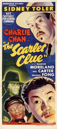 The Scarlet Clue - 13 x 30 Movie Poster - Australian Style A