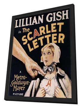 The Scarlet Letter - 27 x 40 Movie Poster - Style A - in Deluxe Wood Frame