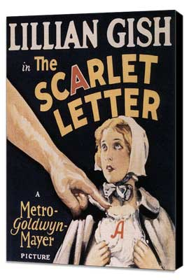 The Scarlet Letter - 27 x 40 Movie Poster - Style A - Museum Wrapped Canvas