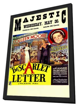 The Scarlet Letter - 11 x 17 Movie Poster - Style A - in Deluxe Wood Frame