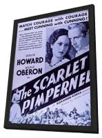 The Scarlet Pimpernel - 11 x 17 Movie Poster - Style B - in Deluxe Wood Frame