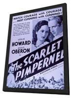 The Scarlet Pimpernel - 27 x 40 Movie Poster - Style B - in Deluxe Wood Frame
