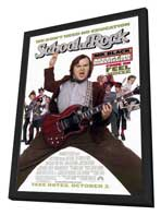 The School of Rock - 11 x 17 Movie Poster - Style A - in Deluxe Wood Frame
