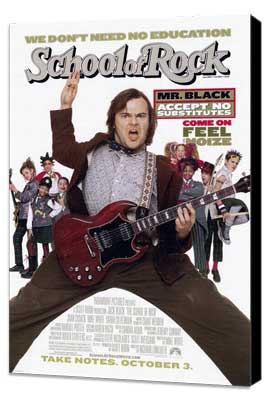 The School of Rock - 27 x 40 Movie Poster - Style A - Museum Wrapped Canvas