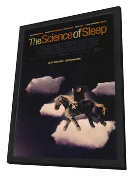 The Science of Sleep - 11 x 17 Movie Poster - Style A - in Deluxe Wood Frame