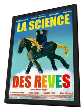 The Science of Sleep - 11 x 17 Movie Poster - French Style A - in Deluxe Wood Frame