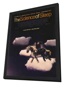 The Science of Sleep - 27 x 40 Movie Poster - Style A - in Deluxe Wood Frame
