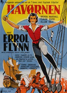 The Sea Hawk - 11 x 17 Movie Poster - Danish Style A