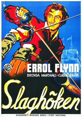 The Sea Hawk - 27 x 40 Movie Poster - Swedish Style A