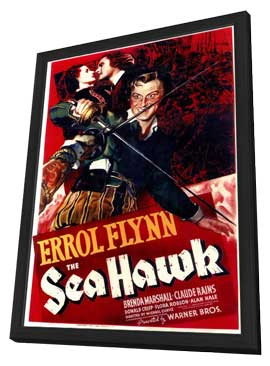 The Sea Hawk - 11 x 17 Movie Poster - Style A - in Deluxe Wood Frame