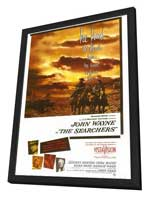The Searchers - 27 x 40 Movie Poster - Style A - in Deluxe Wood Frame