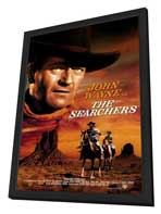 The Searchers - 27 x 40 Movie Poster - Style B - in Deluxe Wood Frame