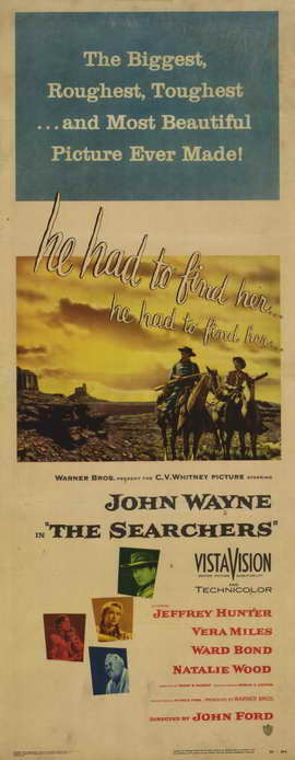 The Searchers - 13 x 30 Movie Poster - Australian Style A