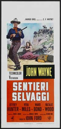 The Searchers - 13 x 28 Movie Poster - Italian Style B