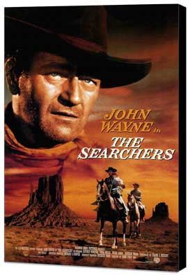 The Searchers - 27 x 40 Movie Poster - Style B - Museum Wrapped Canvas