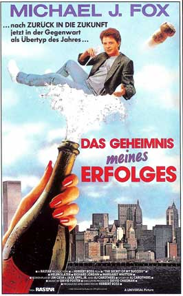 The Secret of My Success - 11 x 17 Movie Poster - German Style A