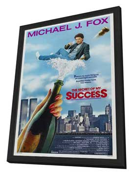 The Secret of My Success - 27 x 40 Movie Poster - Style A - in Deluxe Wood Frame