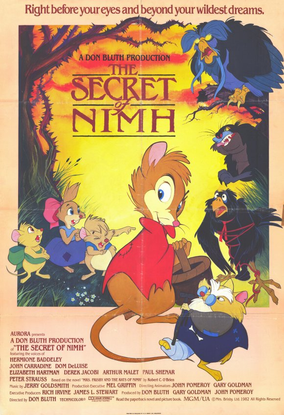 the secret of nimh movie posters from movie poster shop