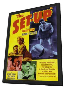 The Set-Up - 11 x 17 Movie Poster - Style D - in Deluxe Wood Frame