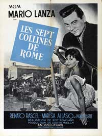 The Seven Hills of Rome - 11 x 17 Movie Poster - French Style B