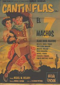The Seven Machos - 11 x 17 Movie Poster - Spanish Style A