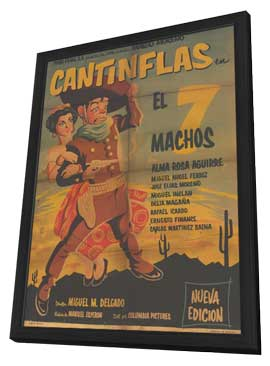 The Seven Machos - 11 x 17 Movie Poster - Spanish Style A - in Deluxe Wood Frame