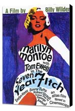 The Seven Year Itch - 27 x 40 Movie Poster - Style A - Museum Wrapped Canvas