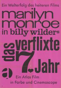 The Seven Year Itch - 11 x 17 Movie Poster - German Style B