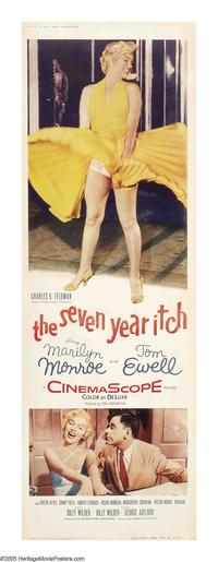 The Seven Year Itch - 14 x 36 Movie Poster - Insert Style A