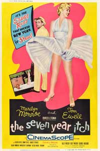 The Seven Year Itch - 27 x 40 Movie Poster - UK Style E