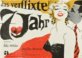 The Seven Year Itch - 27 x 40 Movie Poster - German Style C