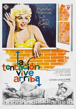 The Seven Year Itch - 27 x 40 Movie Poster - Spanish Style A