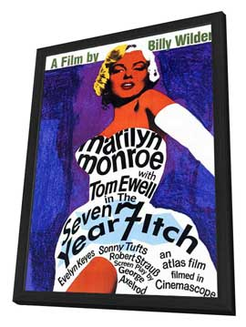 The Seven Year Itch - 27 x 40 Movie Poster - Style A - in Deluxe Wood Frame