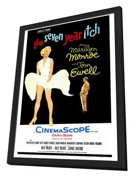 The Seven Year Itch - 27 x 40 Movie Poster - Style B - in Deluxe Wood Frame