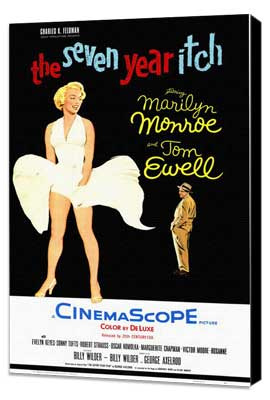 The Seven Year Itch - 11 x 17 Movie Poster - Style B - Museum Wrapped Canvas