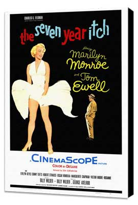 The Seven Year Itch - 27 x 40 Movie Poster - Style B - Museum Wrapped Canvas