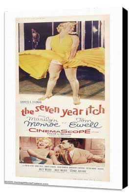The Seven Year Itch - 14 x 36 Movie Poster - Insert Style A - Museum Wrapped Canvas