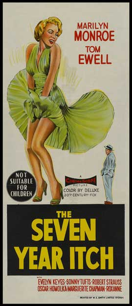 The Seven Year Itch - 13 x 30 Movie Poster - Australian Style A