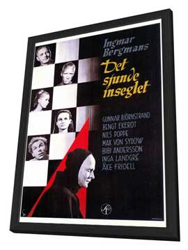 The Seventh Seal - 27 x 40 Movie Poster - Foreign - Style A - in Deluxe Wood Frame