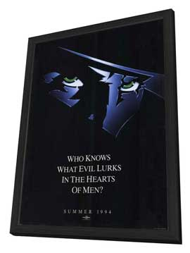 The Shadow - 27 x 40 Movie Poster - Style D - in Deluxe Wood Frame