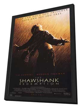 The Shawshank Redemption - 11 x 17 Movie Poster - Style A - in Deluxe Wood Frame