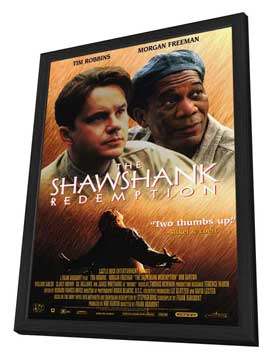 The Shawshank Redemption - 11 x 17 Movie Poster - Style B - in Deluxe Wood Frame