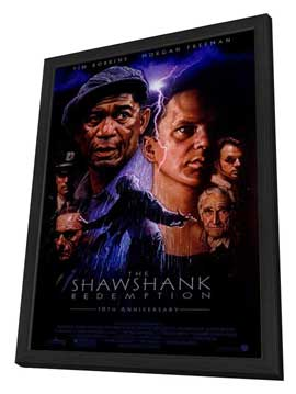 The Shawshank Redemption - 27 x 40 Movie Poster - Style A - in Deluxe Wood Frame