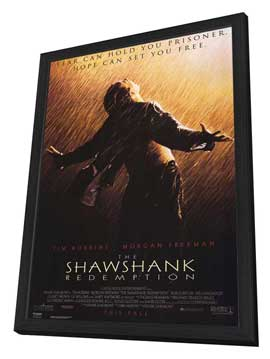 The Shawshank Redemption - 27 x 40 Movie Poster - Style C - in Deluxe Wood Frame