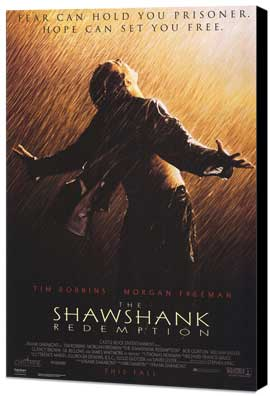 The Shawshank Redemption - 11 x 17 Movie Poster - Style A - Museum Wrapped Canvas